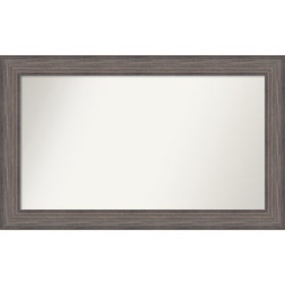 Wall Mirror Choose Your Custom Size - Large, Country Barnwood Wood