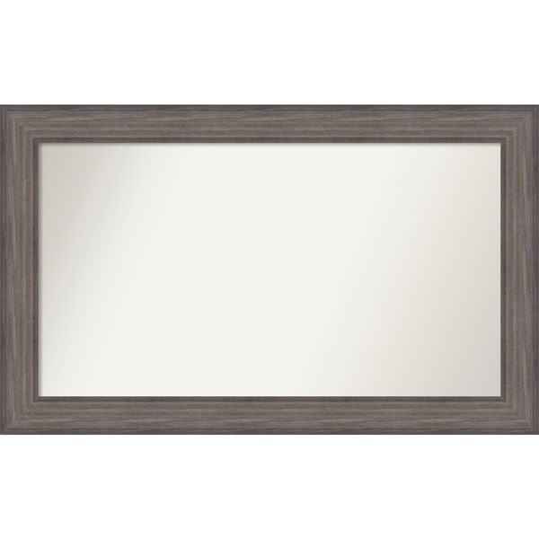 Wall Mirror Choose Your Custom Size - Large, Country Barnwood Wood - Brown/Grey