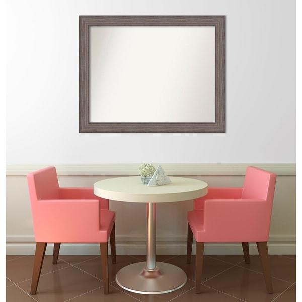 Wall Mirror Choose Your Custom Size - Medium, Country Barnwood Wood - Brown
