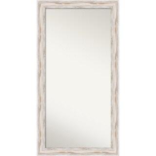 Wall Mirror Choose Your Custom Size - Oversized, Alexandria White wash Wood