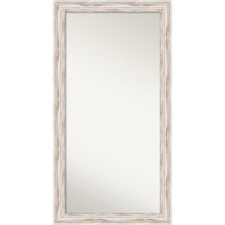 Wall Mirror Choose Your Custom Size - Oversized, Alexandria White wash Wood