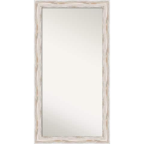 Wall Mirror Choose Your Custom Size - OS, Alexandria White wash Wood