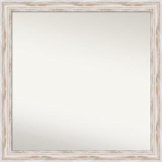 Wall Mirror Choose Your Custom Size - Large, Alexandria White wash Wood