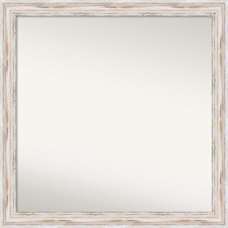 Wall Mirror Choose Your Custom Size - Large, Alexandria Whitewash Wood - White Washed