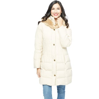 Larry Levine Women's Double Layer Down Coat