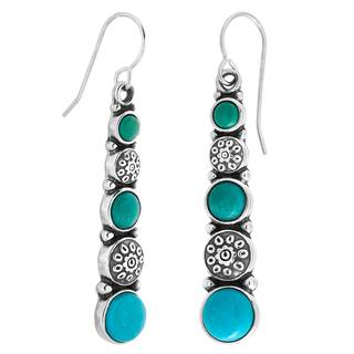Sterling Silver Colors of Turquoise Earrings