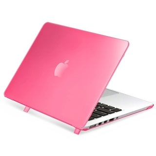 INSTEN Plain Rubberized Hard Snap-on Case Cover For Apple Macbook Pro with Retina Display 13-inch in Pink (As Is Item)