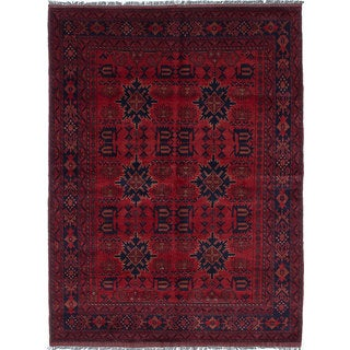eCarpetGallery Red Wool Hand-knotted Mohammadi Rug (5'8 x 7'7)