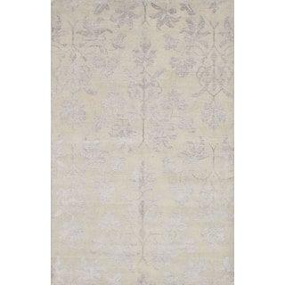 eCarpetGallery La Seda Green Hand-knotted Wool and Art Silk Rug (6'4 x 9'11)