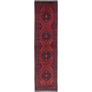 eCarpetGallery Khal Mohammadi Red Wool Hand-knotted Rug (2'5 x 9'6)