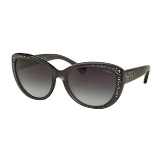 Coach HC8162 L147 534411 Dark Grey Crystal Womens Plastic Cat Eye Sunglasses