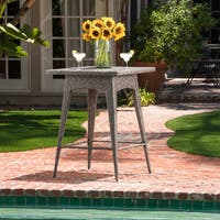 Puerta Outdoor Wicker Bar Table by Christopher Knight Home