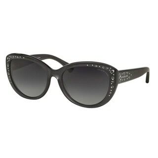Coach HC8162F L560 5344T3 Dark Grey Crystal Womens Plastic Cat Eye Sunglasses