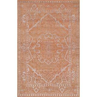 eCarpetGallery Hand-Knotted La Seda Brown Wool and Art Silk Rug (4'11 x 7'10)