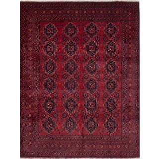 eCarpetGallery Finest Khal Mohammadi Red Wool Hand-knotted Rug (10' x 13')