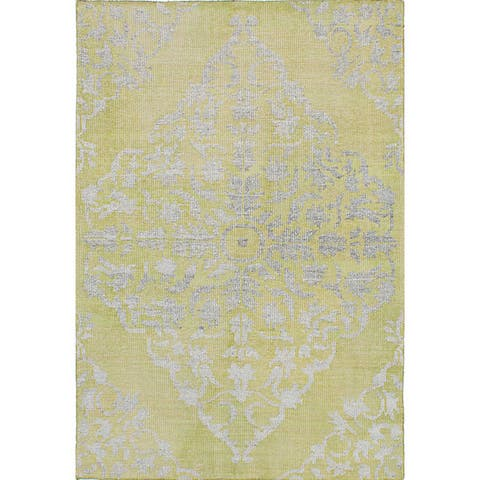 eCarpetGallery La Seda Wool and Art Silk Hand-knotted Area Rug