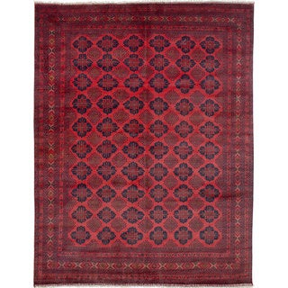 eCarpetGallery Finest Khal Mohammadi Red/Black/Cream Wool Hand-knotted Area Rug (8'4 x 10'11)