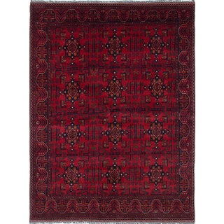 eCarpetGallery Finest Khal Mohammadi Red Wool Hand-knotted Rug (5'10 x 7'10)