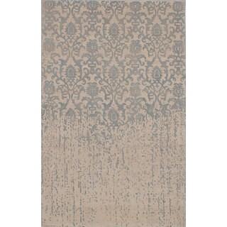 eCarpetGallery Handmade Elina Grey Wool Rug (5' x 8')