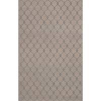 eCarpetGallery Elina Grey Wool Hand-made Rug (5'x 8')