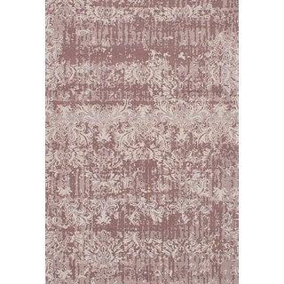 eCarpetGallery Enchanted Brown/Ivory Viscose and Cotton Handmade Area Rug (5'3 x 7'10)