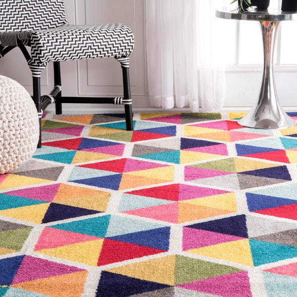 Shop Nuloom Contemporary Triangle Mosaic Multi Rug 4 X