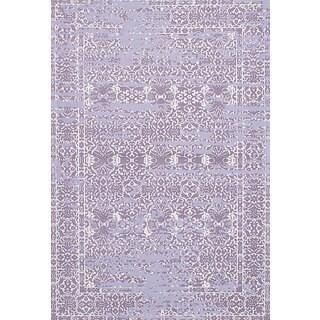 eCarpetGallery Hand-Made Enchanted Pink Viscose Rug (5'3 x 7'9)