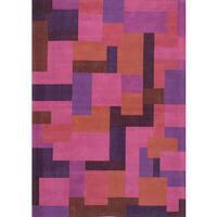 eCarpetGallery Handmade Enchanted Pink Viscose Rug