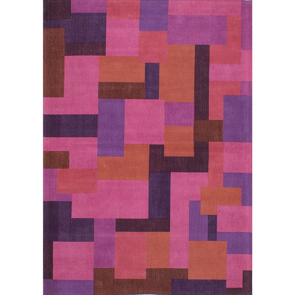 Shop ECarpetGallery Handmade Enchanted Pink Viscose Rug