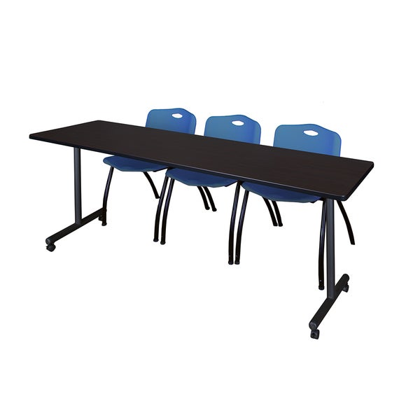 Shop Kobe Inch Long X Inch Wide Mobile Training Table With - 84 inch conference table