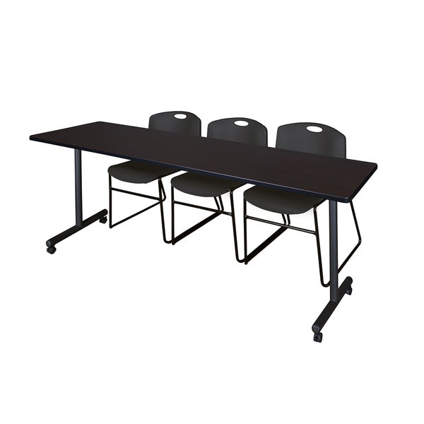 Shop Kobe Black Metal And Wood Inch X Inch Mobile Training - 84 inch conference table