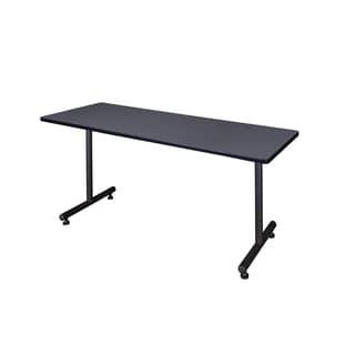 Kobe Black Wood and Metal 66-inch x 30-inch Training Table