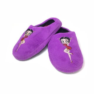 Betty Boop Women's Polyester Pin-up Slippers