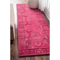 nuLOOM Handmade Persian Overdyed Wool Runner Rug - 2'6 x 12'