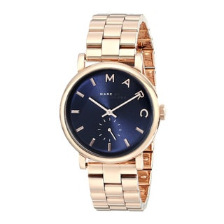 Marc Jacobs MBM3330 Stainless Steel Baker Blue/Rosetone Women's Watch