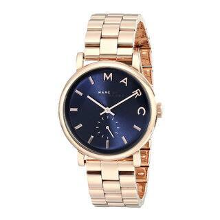 Marc Jacobs MBM3330 Stainless Steel Baker Blue/Rosetone Women's Watch|https://ak1.ostkcdn.com/images/products/12615315/P19409306.jpg?impolicy=medium