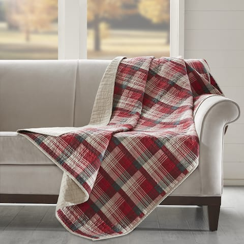 Woolrich Tasha Cotton Thread Count Printed Quilted Throw 2-Color Option