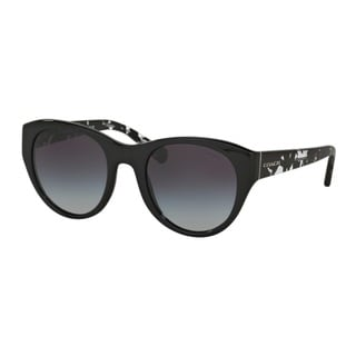 Coach HC8167F 534811 Black/Black Crystal Mosaic Womens Plastic Cat Eye Sunglasses