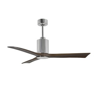 Matthews Fan Company Patricia Polished Chrome 52-inch 3-blade Paddle Fan with Light Kit