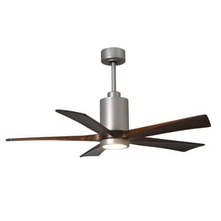 Matthews Fan Company Patricia 5-blade 60-inch Brushed Nickel Paddle Fan with Light Kit