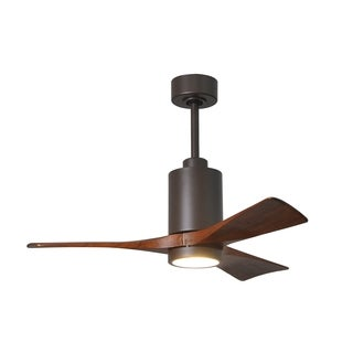 Matthews Fan Company Patricia 3-blade Textured Bronze 42-inch Paddle Fan with Light Kit