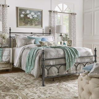 Florence Victorian Crystal Metal Bed by iNSPIRE Q Classic