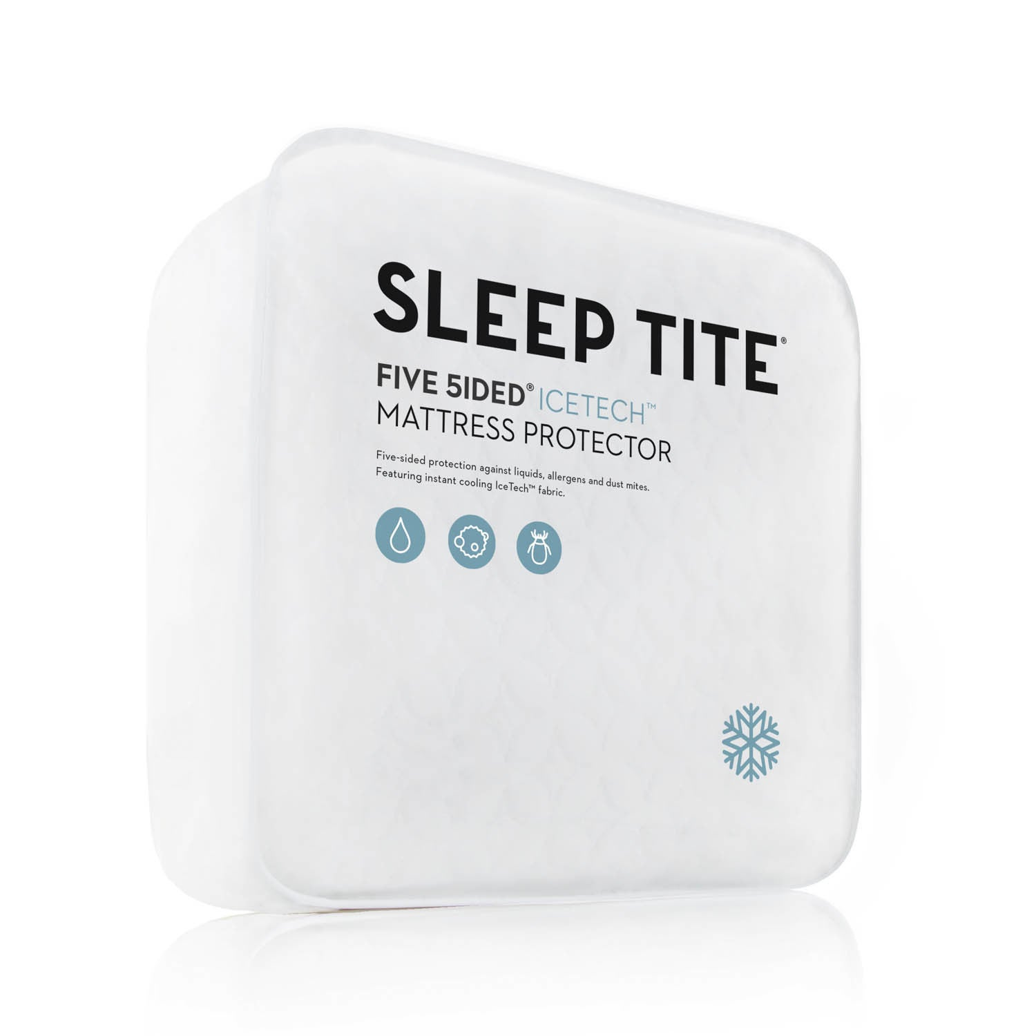Malouf Sleep Tite Five 5ided IceTech Mattress Protector (Twin), White (Polyester)