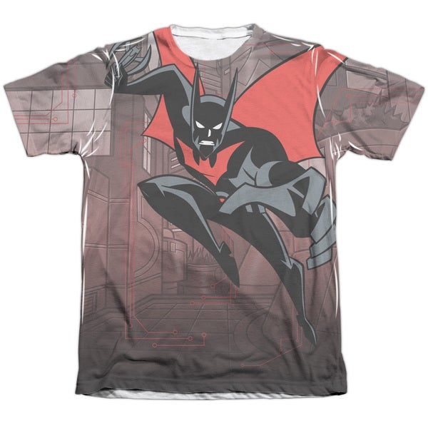 64a85140 Batman Beyond/Bat Tech (Front/Back Print) Adult Poly/Cotton Short. Click to  Zoom