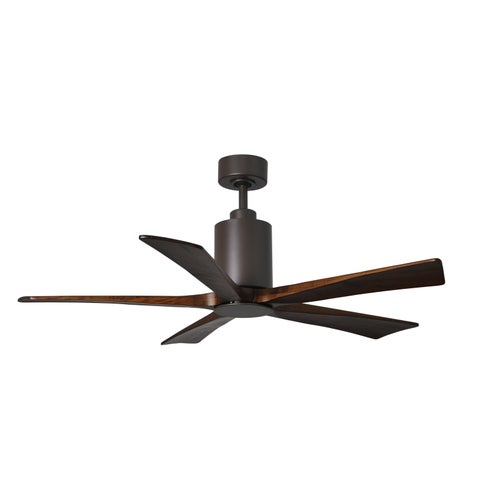 Matthews Fan's Company Patricia Textured Bronze 60-inch 5-blade Paddle Fan with Light Kit