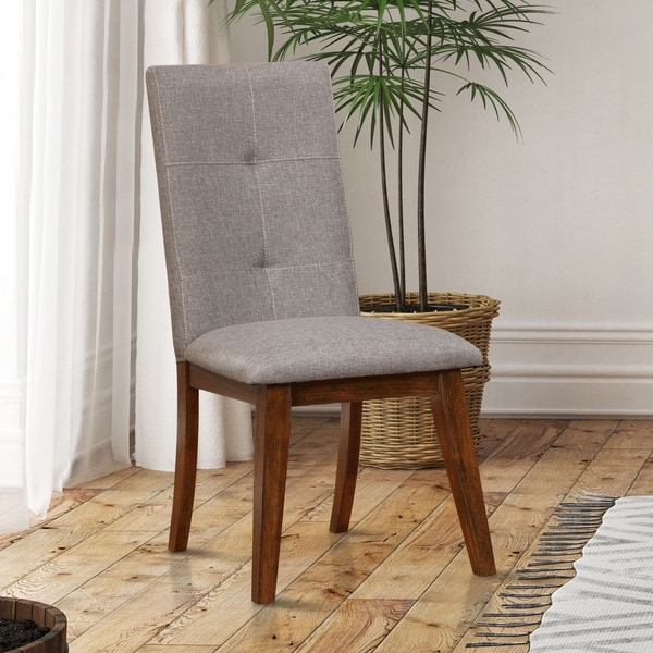 Shop Furniture Of America Katrin Grey Tufted Dining Chairs Set Of 2