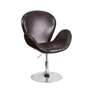 Offex Hercules Trestron Series Retro-style, Height Adjustable Seat, Leather Reception Chair