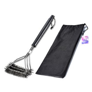 18-inch BBQ Grill Brush with Stainless Steel Bristles