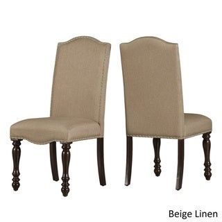 Parisian Nailhead Upholstered Side Chairs by TRIBECCA HOME (Set of 2)