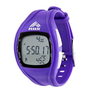 RBX Active  Digital Purple Silicone Pedometer Watch